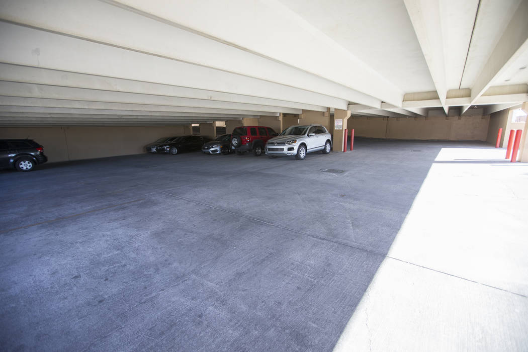 The parking lot adjacent to the Walgreens drugstore located at 2427 Las Vegas Blvd. South in Las Vegas on Tuesday, May 23, 2017. Richard Brian Las Vegas Review-Journal @vegasphotograph
