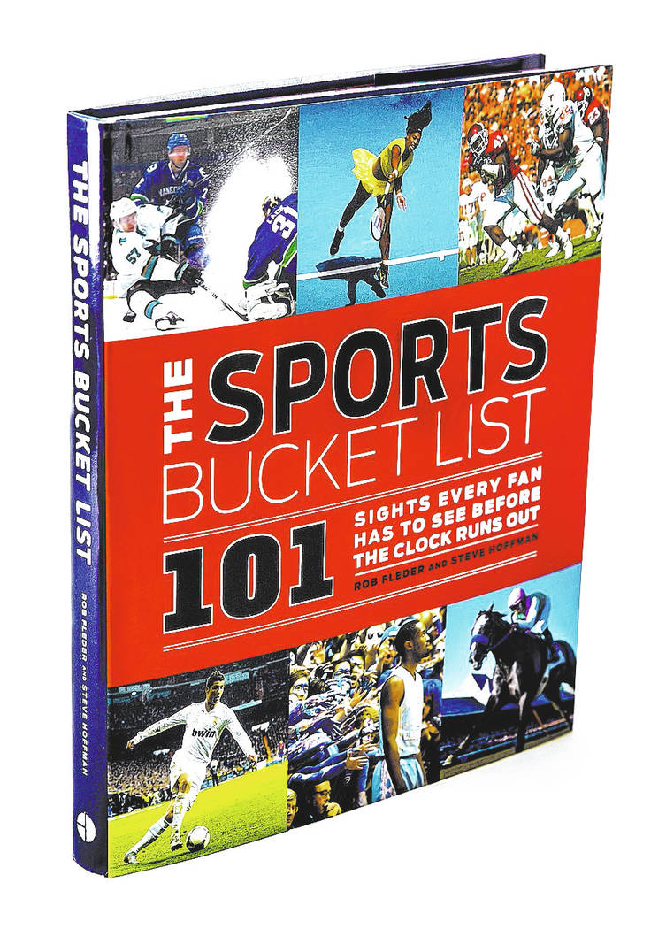 The Sports Bucket List 101 book cover on Tuesday, May 30, 2017, at the Review-Journal studio, in Las Vegas. Benjamin Hager Las Vegas Review-Journal @benjaminhphoto