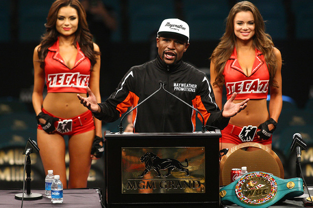 Floyd Mayweather Jr. will be one of five inductees into the Southern Nevada Sports Hall of Fame on Friday. (Chase Stevens/Las Vegas Review-Journal) Follow Chase Stevens on Twitter at @csstevensphoto