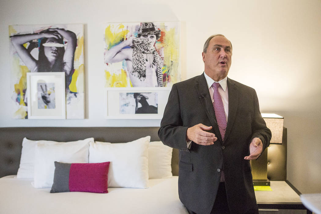 Steve Opdyke, vice president of hotel operations with Caesars Entertainment, talks about hotel room renovations at the Planet Hollywood Resort on Thursday, May 25, 2017. Patrick Connolly Las Vegas ...
