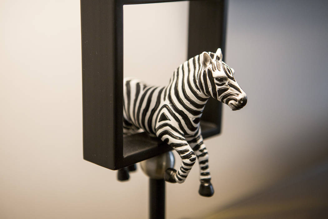 A zebra lamp in a panorama suite at the Planet Hollywood Resort on Thursday, May 25, 2017. Patrick Connolly Las Vegas Review-Journal @PConnPie
