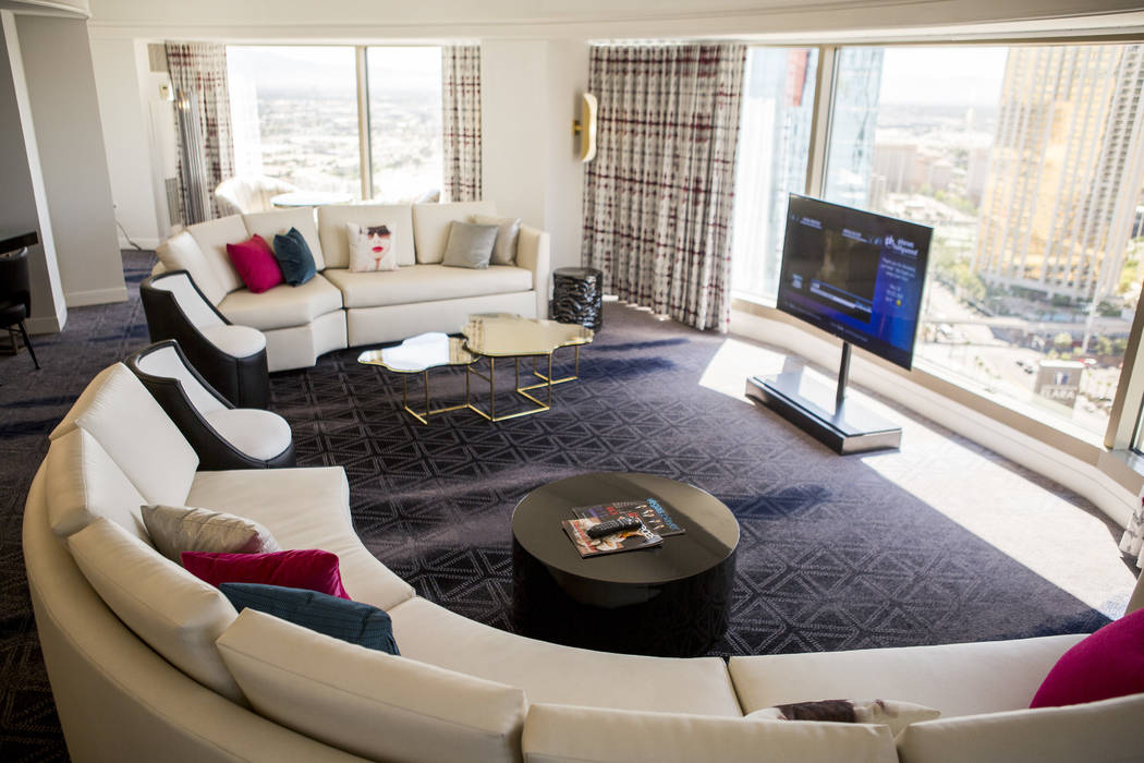 A newly renovated panorama suite at the Planet Hollywood Resort on Thursday, May 25, 2017. Patrick Connolly Las Vegas Review-Journal @PConnPie