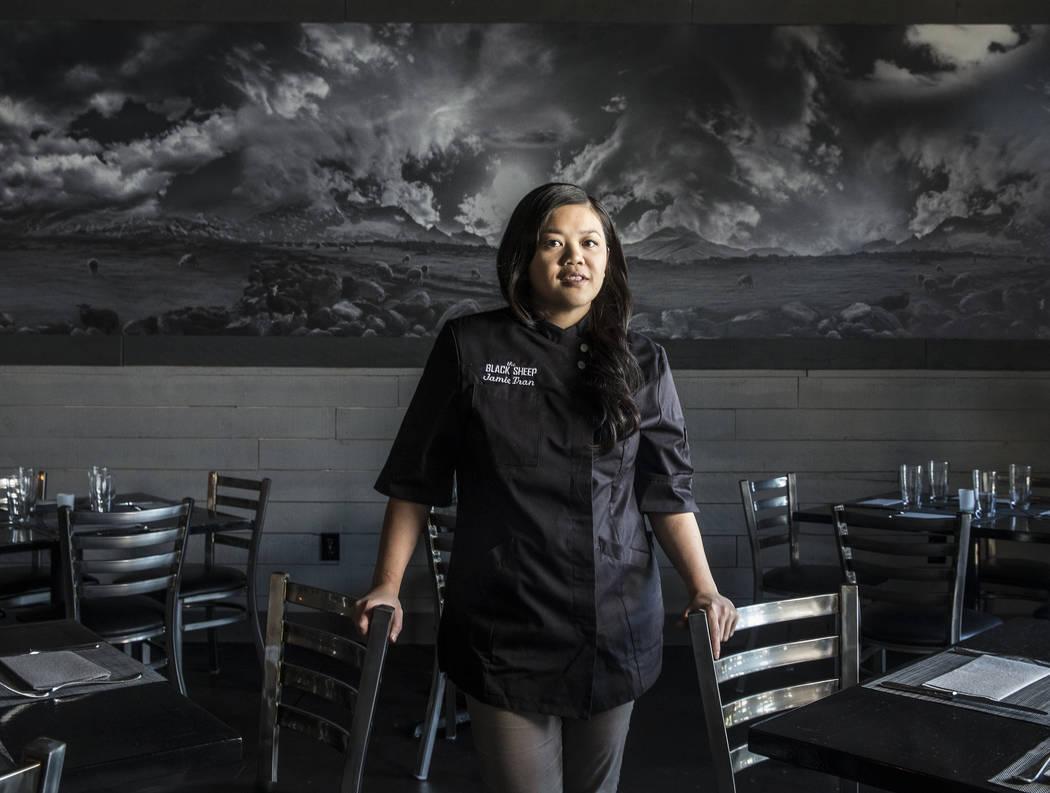 Chef Jamie Tran at The Black Sheep on Friday, May 26, 2017, in Las Vegas. Benjamin Hager Las Vegas Review-Journal @benjaminhphoto