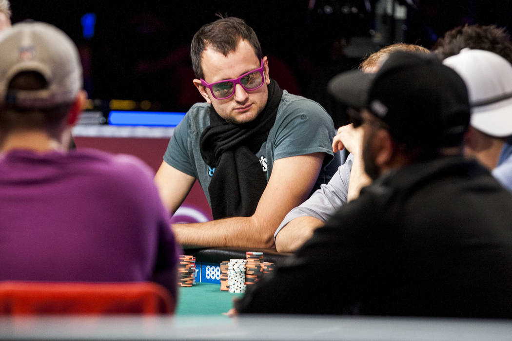 Rainer Kempe competes in the World Series of Poker's $111,111 buy-in High Roller for One Drop No-limit Hold'em tournament at the Rio Convention Center on Monday, June 5, 2017. Patrick Connolly ...