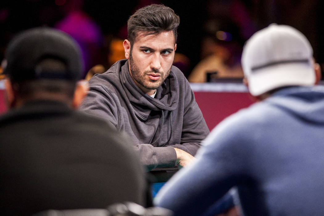 Dario Sammartino competes in the World Series of Poker's $111,111 buy-in High Roller for One Drop No-limit Hold'em tournament at the Rio Convention Center on Monday, June 5, 2017. Patrick Conn ...