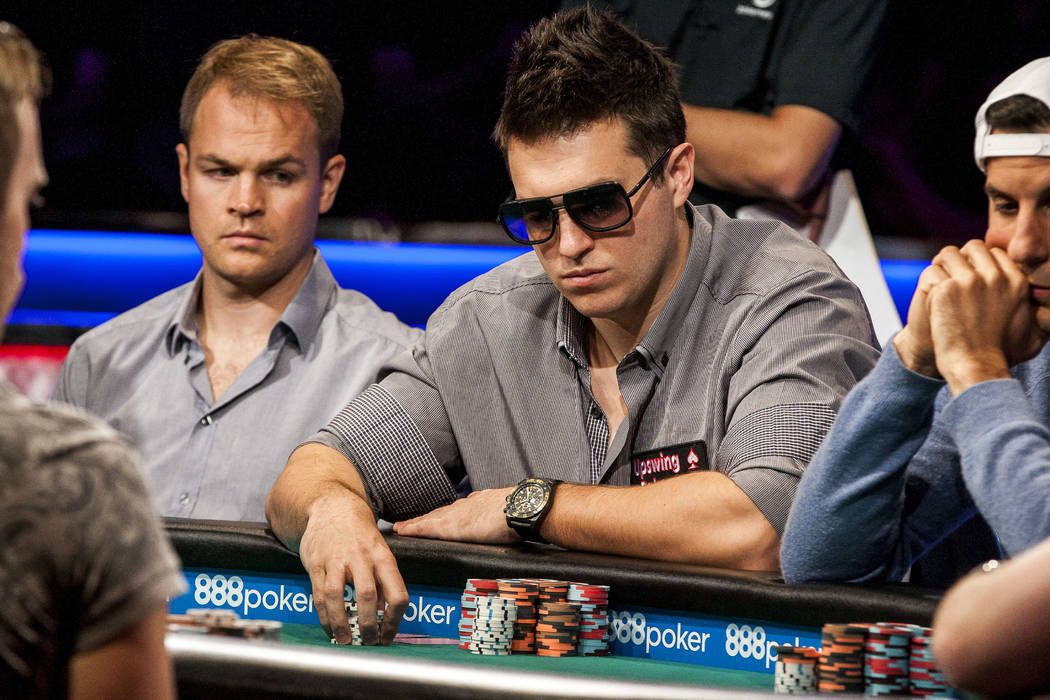 Doug Polk competes in the World Series of Poker's $111,111 buy-in High Roller for One Drop No-limit Hold'em tournament at the Rio Convention Center on Monday, June 5, 2017. Patrick Connolly La ...