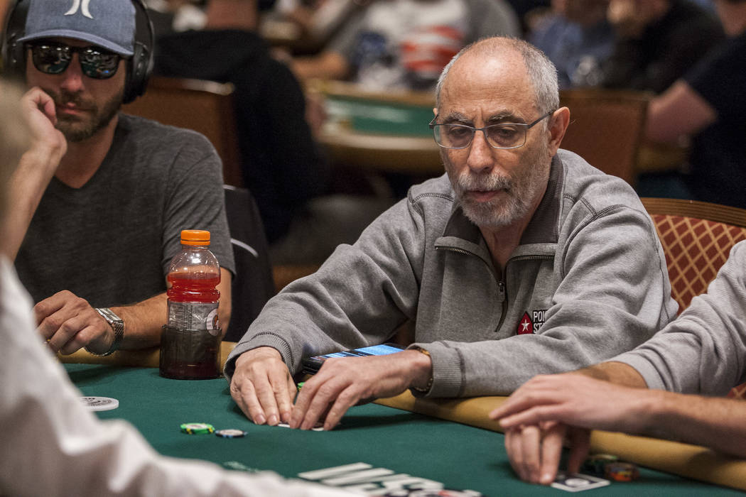 Barry Greenstein competes in the $2,500 No-Limit Hold'em event in the World Series of Poker at the Rio Convention Center on Thursday, June 15, 2017.  Patrick Connolly Las Vegas Review-Journal @PCo ...