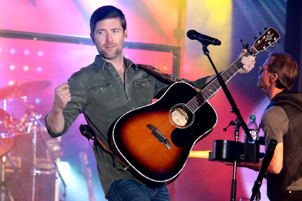 Singer-songwriter Josh Turner performs in concert at the Valley Forge Casino Resort on Saturday, March 28, 2015, in Valley Forge, Pa. (Photo by Owen Sweeney/Invision/AP)