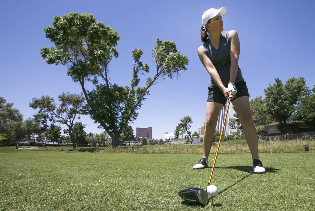 Former LPGA golfer and Las Vegas native Stephanie Louden, 38, at the Las Vegas Country Club in Las Vegas on Friday, June 2, 2017. Richard Brian Las Vegas Review-Journal @vegasphotograph