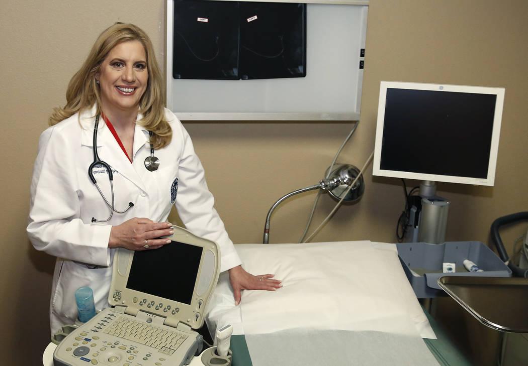 Dr. Annabel Barber at patient examination room on Thursday, June 8, 2017, in Las Vegas. Bizuayehu Tesfaye/Las Vegas Review-Journal @bizutesfaye