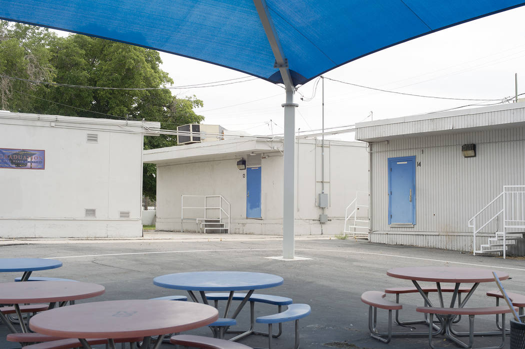 The site where CCSD's first recovery high school is set to be located  is pictured on Wednesday, May 31, 2017 in Las Vegas. The high school was approved last week by trustees and will serve as a h ...
