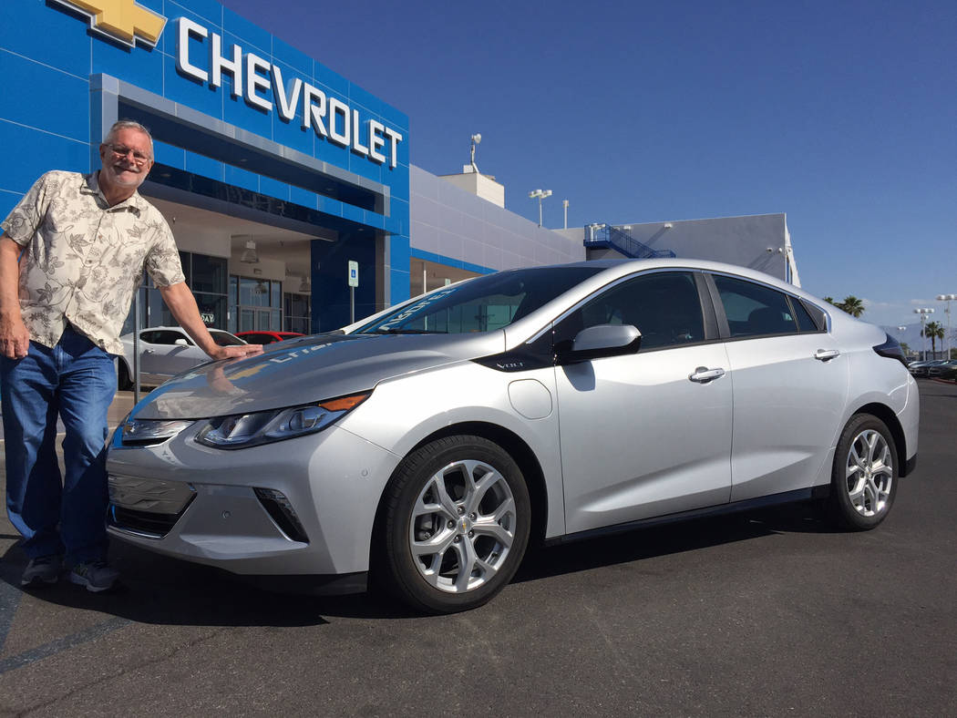 Findlay Chevrolet Longtime Las Vegas environmentalist Steve Rypka is a big fan of the 2017 Chevrolet Volt at Findlay Chevrolet in the southwest valley.