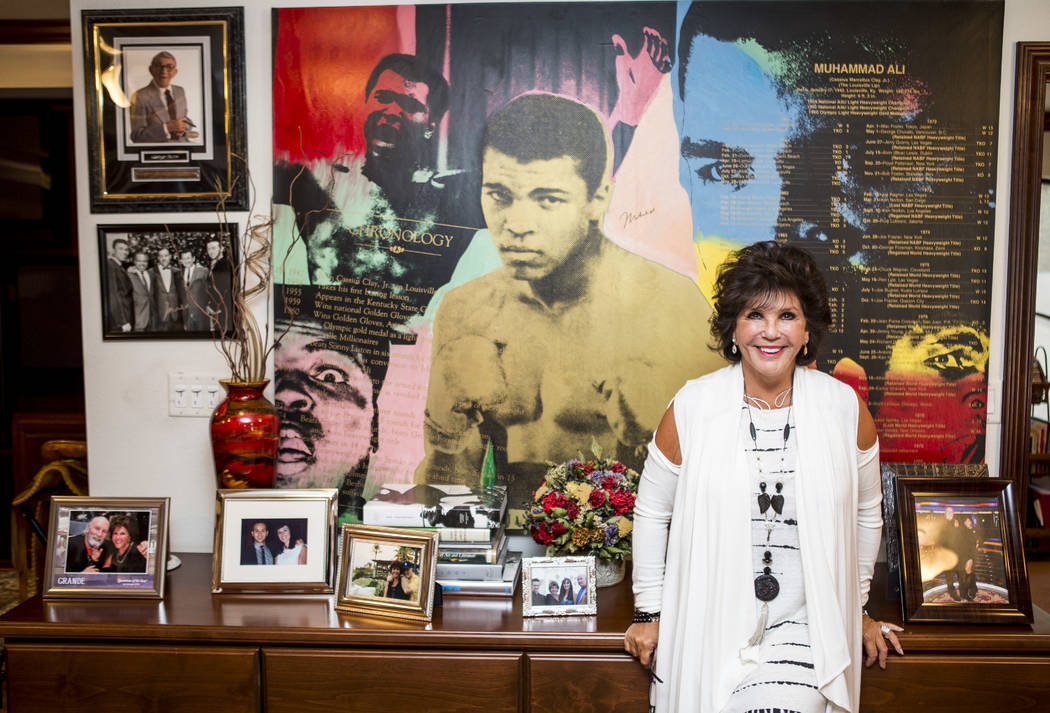 Lisa Tenner, who has worked in branding and marketing for bands and the music industry for over 30 years, in her house on Tuesday, June 6, 2017.  Patrick Connolly Las Vegas Review-Journal @PConnPie