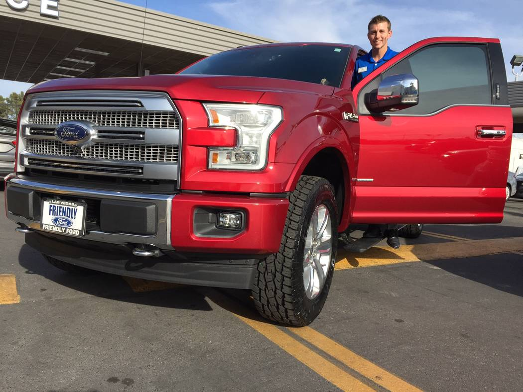 Friendly Ford Friendly Ford new car manager Taylor Warf recently illustrated his confidence in the 2017 Ford F-150 when he purchased the Platinum model. The dealership is located at 660 N. Decatur ...