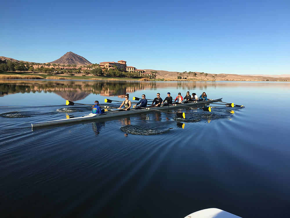 Summer Rowing Junior Camps and other rowing programs are being offered at the Lake Las Vegas community. No experience is required to participate. (Josh Metz)