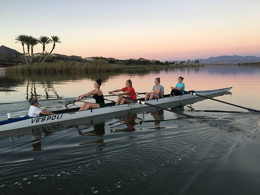 Summer Rowing Junior Camps and other rowing programs are being offered at the Lake Las Vegas community. No experience is required to participate. ( Josh Metz)