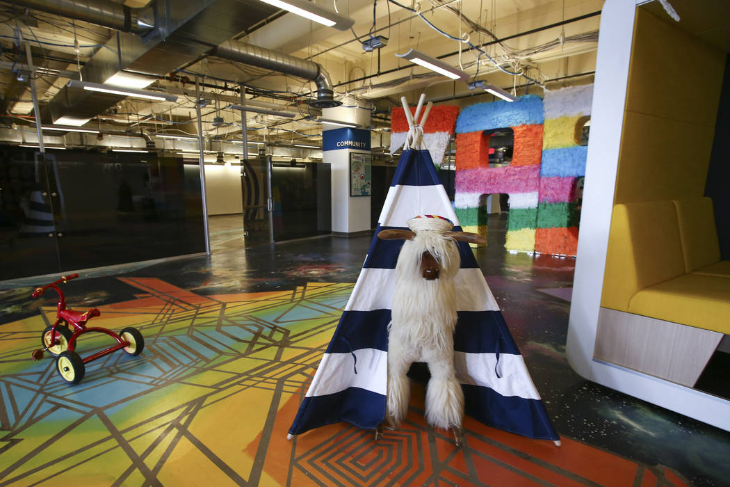 Part of the new tour area at Zappos headquarters in downtown Las Vegas on Thursday, June 1, 2017. Chase Stevens Las Vegas Review-Journal @csstevensphoto