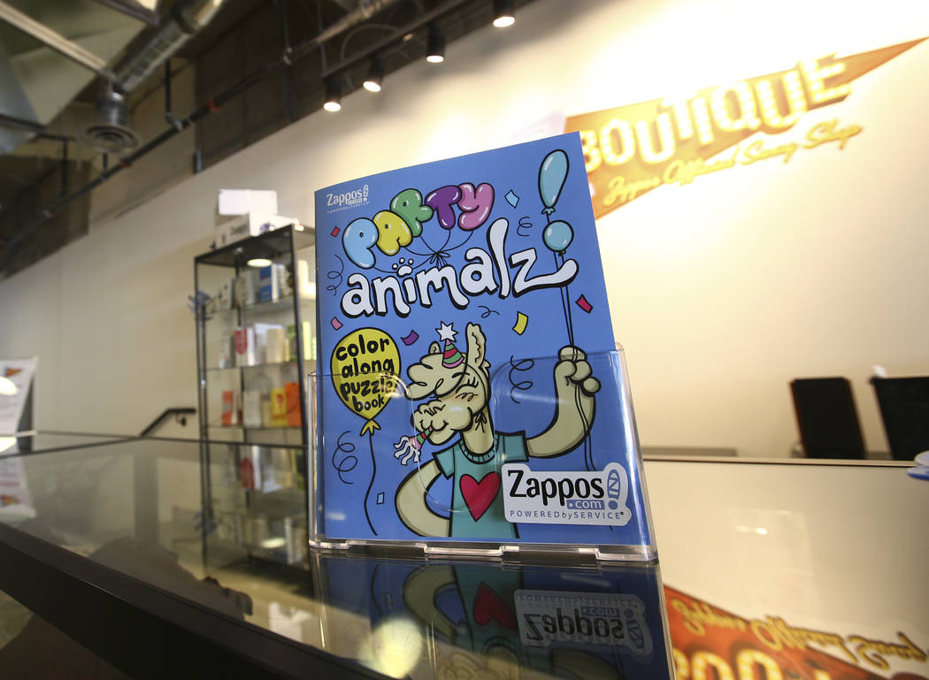 A coloring book in the gift shop area at Zappos headquarters in downtown Las Vegas on Thursday, June 1, 2017. Chase Stevens Las Vegas Review-Journal @csstevensphoto