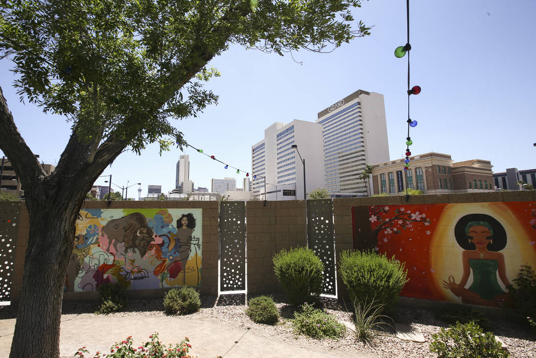 Murals painted by employees at Zappos headquarters in downtown Las Vegas on Thursday, June 1, 2017. Chase Stevens Las Vegas Review-Journal @csstevensphoto