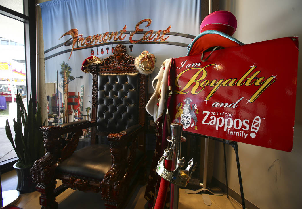 "A ""throne"" for visitors and employees in the gift shop area at Zappos headquarters in downtown Las Vegas on Thursday, June 1, 2017. Chase Stevens Las Vegas Review-Journal @csstev ..."