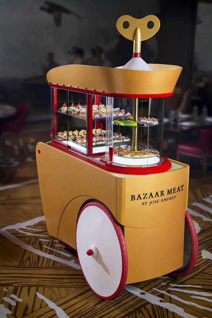 Dessert cart at Bazaar Meat at SLS Las Vegas. Bazaar Meat