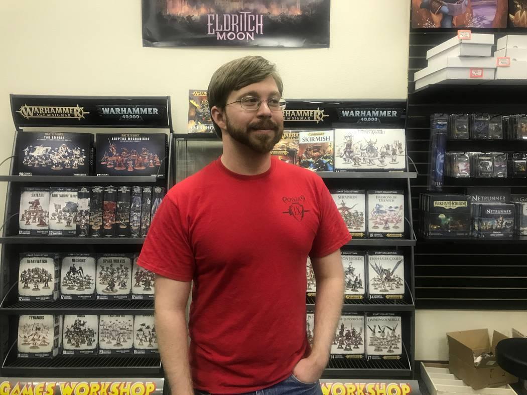 Jaerrett Gaaei, manager at Power 9 Games, 2575 E. Craig Rd Suite C. Kailyn Brown/View