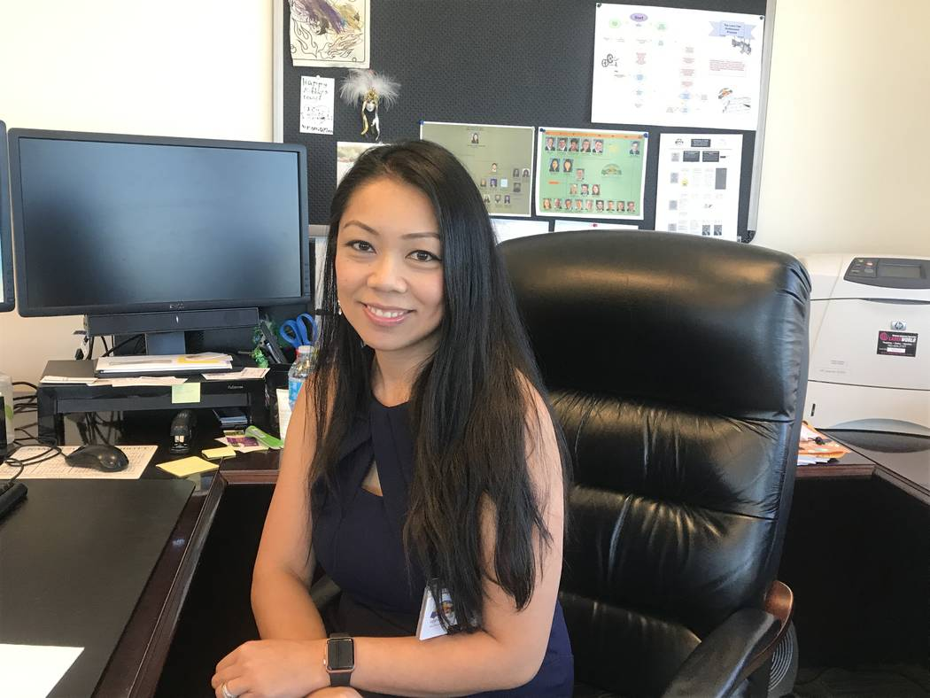 Micaela Moore, City of North Las Vegas city attorney, in her office May 25 at the North Las Vegas City Hall, 2250 N. Las Vegas Blvd. Kailyn Brown/View