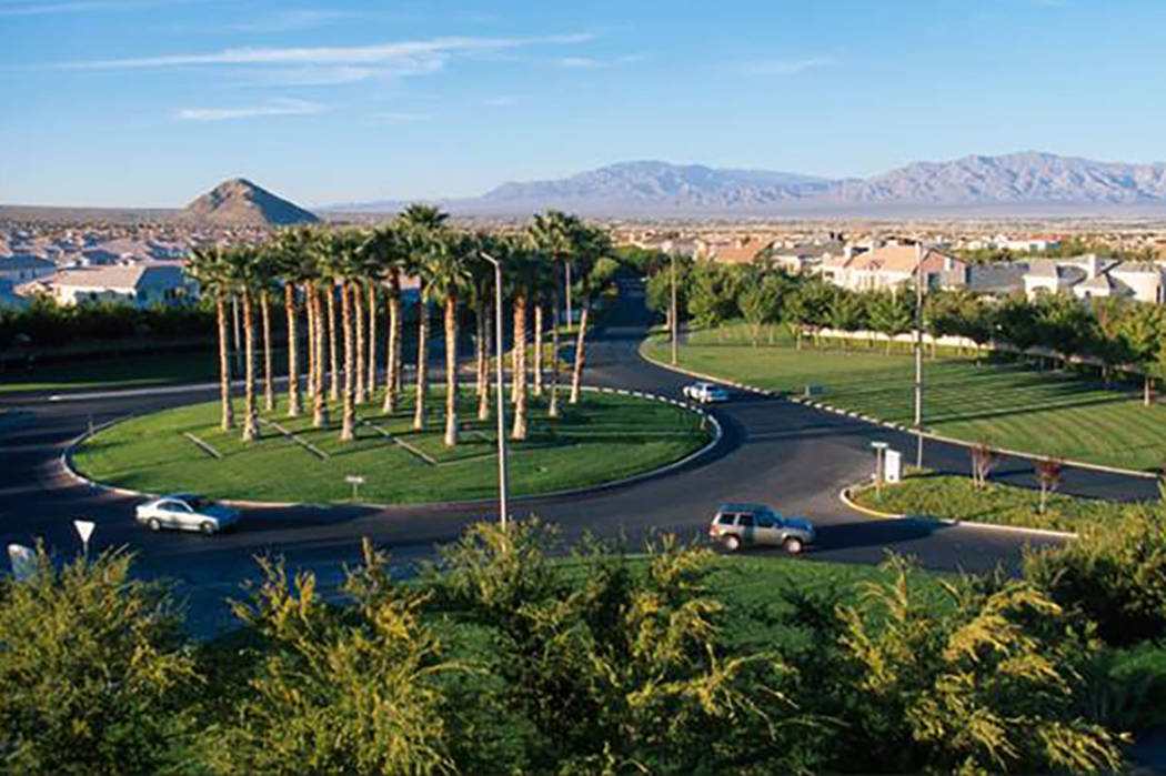 The roundabout on Town Center Drive and Hills Center Drive in Summerlin. Courtesy photo