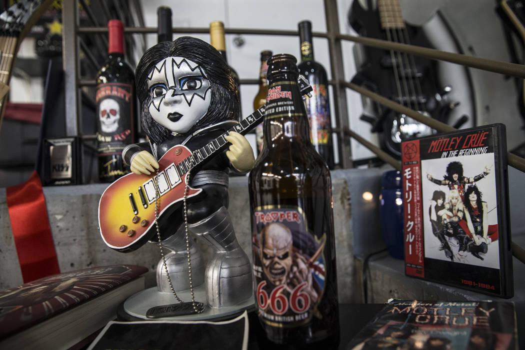 Barber J.J. Jones' Las Vegas salon is covered with glam rock and hair metal memorabilia. Photo taken on Wednesday, May 31, 2017, at Jones' salon, in Las Vegas. Benjamin Hager Las Vegas Review-Jour ...