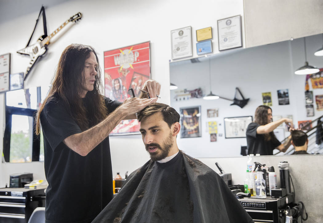 Get A Haircut Is A Rock N Roll Barber Shop In Downtown Las Vegas Las Vegas Review Journal