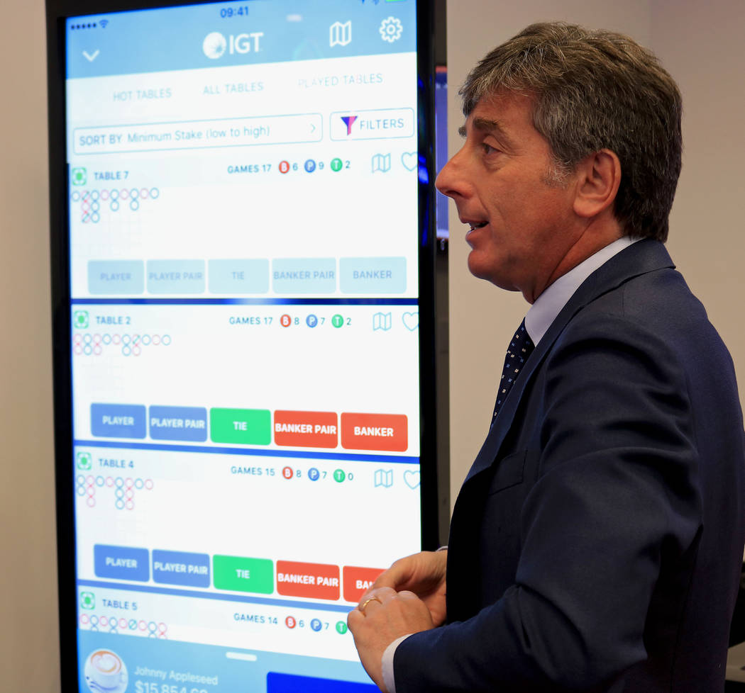 Renato Ascoli, IGT's CEO of North America Gaming and Interactive, explains the company's Cardless Connect program, Friday, June 2, 2017. Gabriella Benavidez Las Vegas Review-Journal @latina_ish