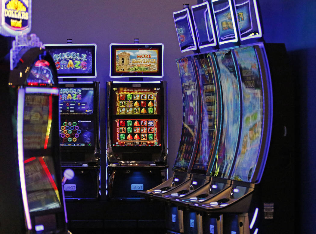 Examples of IGT gaming machines on display in the company's showroom at their Las Vegas headquarters, Friday, June 2, 2017. Gabriella Benavidez Las Vegas Review-Journal @latina_ish