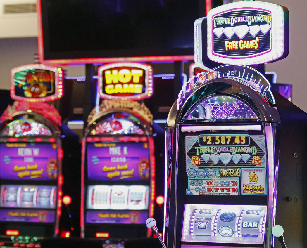 Examples of IGT's gaming machines on display in the company's showroom at their Las Vegas headquarters, Friday, June 2, 2017. Gabriella Benavidez Las Vegas Review-Journal @latina_ish