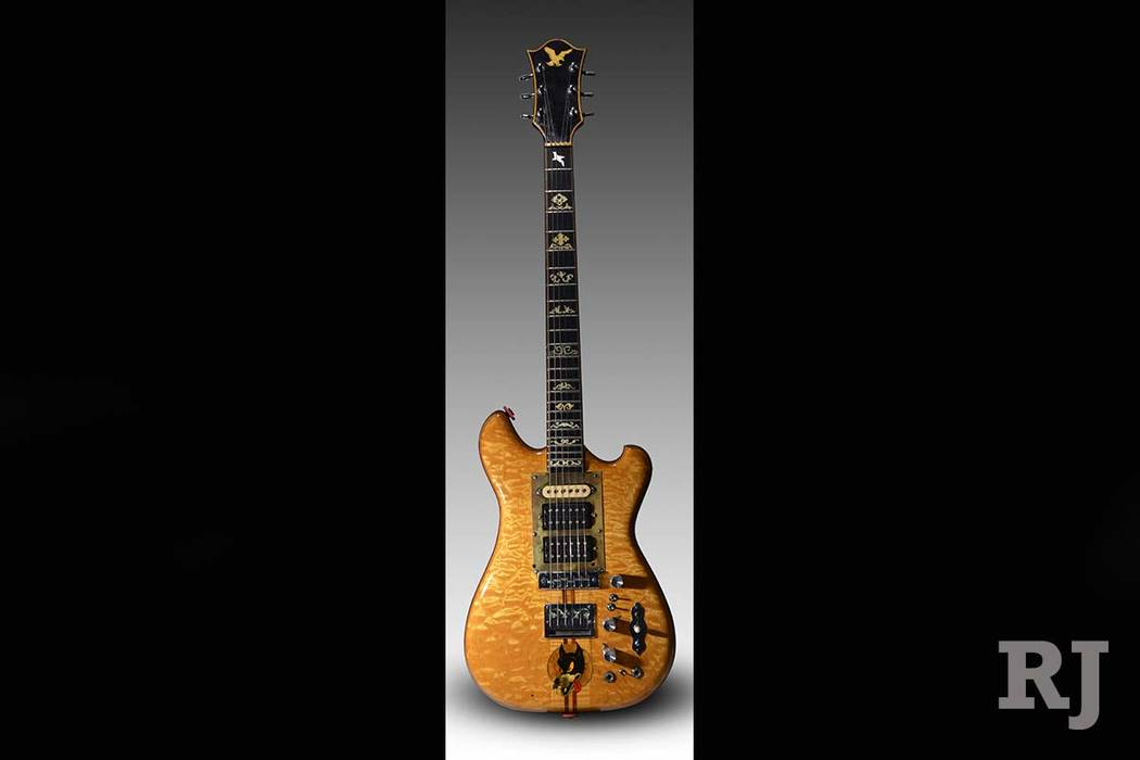 "Proceeds from Jerry Garcia's famous ""Wolf"" guitar, which fetched $1.9 million at auction, will go to the Montgomery, Alabama-based Southern Poverty Law Center. (Guernsey's via AP)"