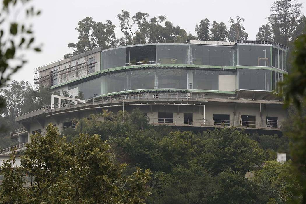 A mansion is seen under construction on Strada Vecchia Road in Los Angeles Wednesday, May 31, 2017. Mohamed Hadid, a developer of luxury homes, has pleaded no contest in Los Angeles to misdemeanor ...