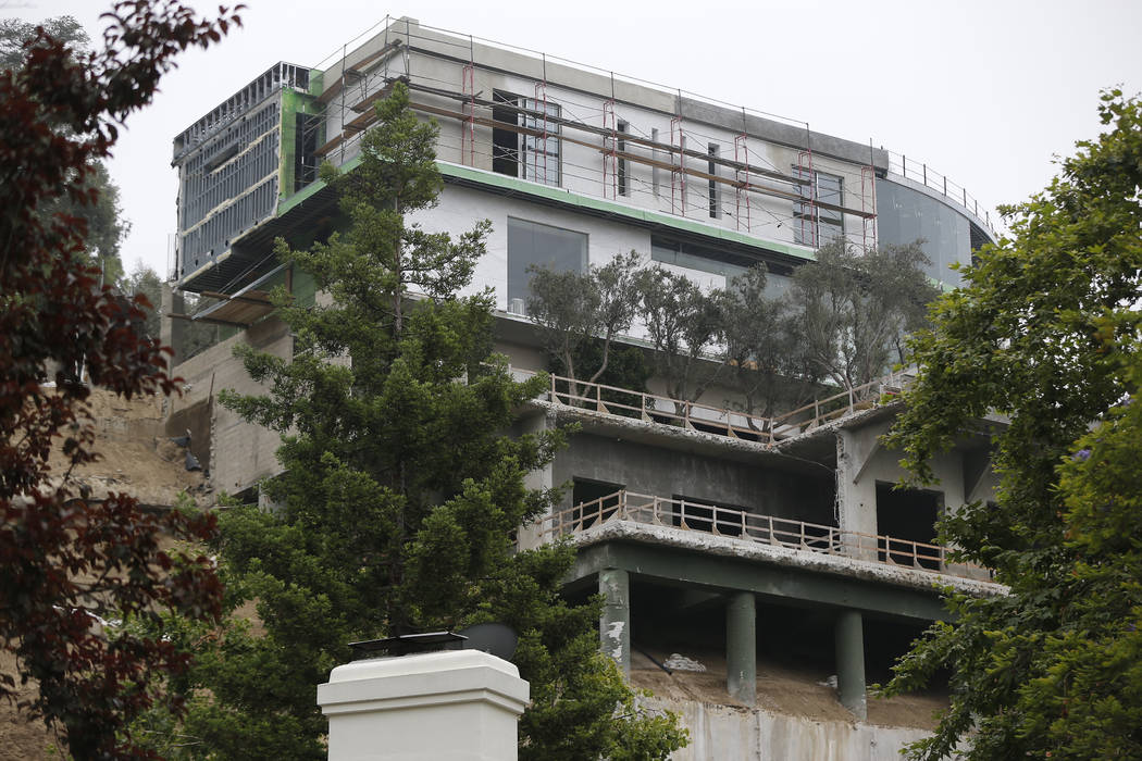 A 30,000-square-foot structure is seen unfinished in Los Angeles Wednesday, May. 31, 2017. Mohamed Hadid, a developer of luxury homes has pleaded no contest in Los Angeles to misdemeanor charges s ...