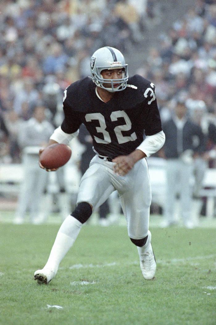L.A. Raiders' Marcus Allen is seen, 1983.  (AP Photo)
