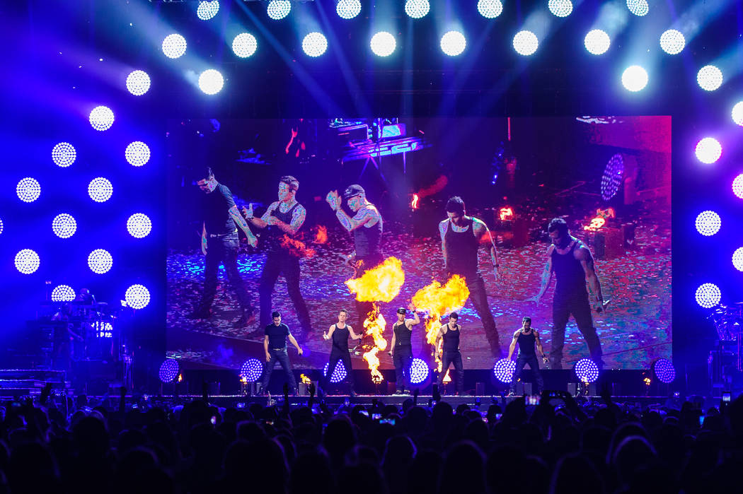 New Kids on the Block headlines T-Mobile Arena on Sunday, May 28, 2017, in Las Vegas. (Brenton Ho/Powers Imagery for T-Mobile Arena)