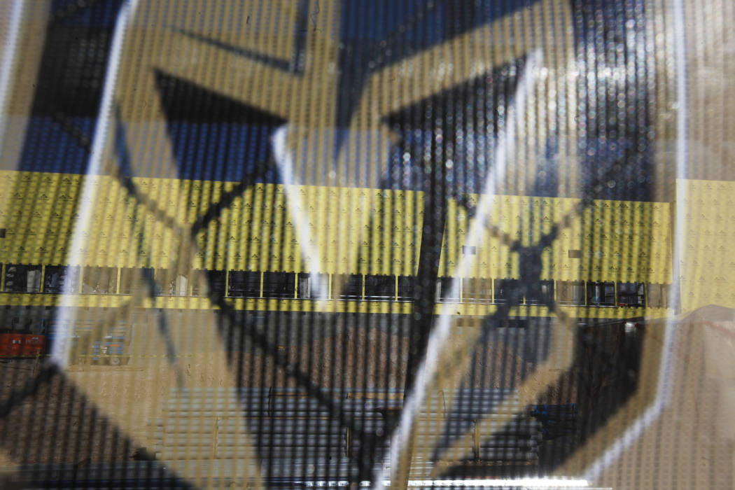 The Golden Knights practice facility construction site on Monday, March 27, 2017, in Las Vegas. (Rachel Aston/Las Vegas Review-Journal) @rookie__rae