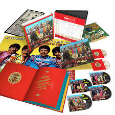 "The big-ticket item celebrating the 50th anniversary of The Beatles album ""Sgt. Pepper's Lonely Hearts Club Band"" is this six-disc ""Super Deluxe Anniversary Edition"" selling for $149.98."