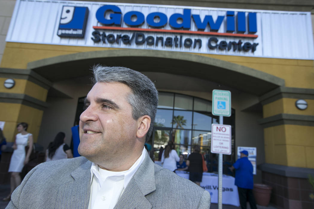 Interim Goodwill of Southern Nevada CEO John Helderman at a reopening event for the Goodwill store located at 9230 South Eastern Ave. in Las Vegas on Friday, June 2, 2017. Richard Brian Las Vegas  ...