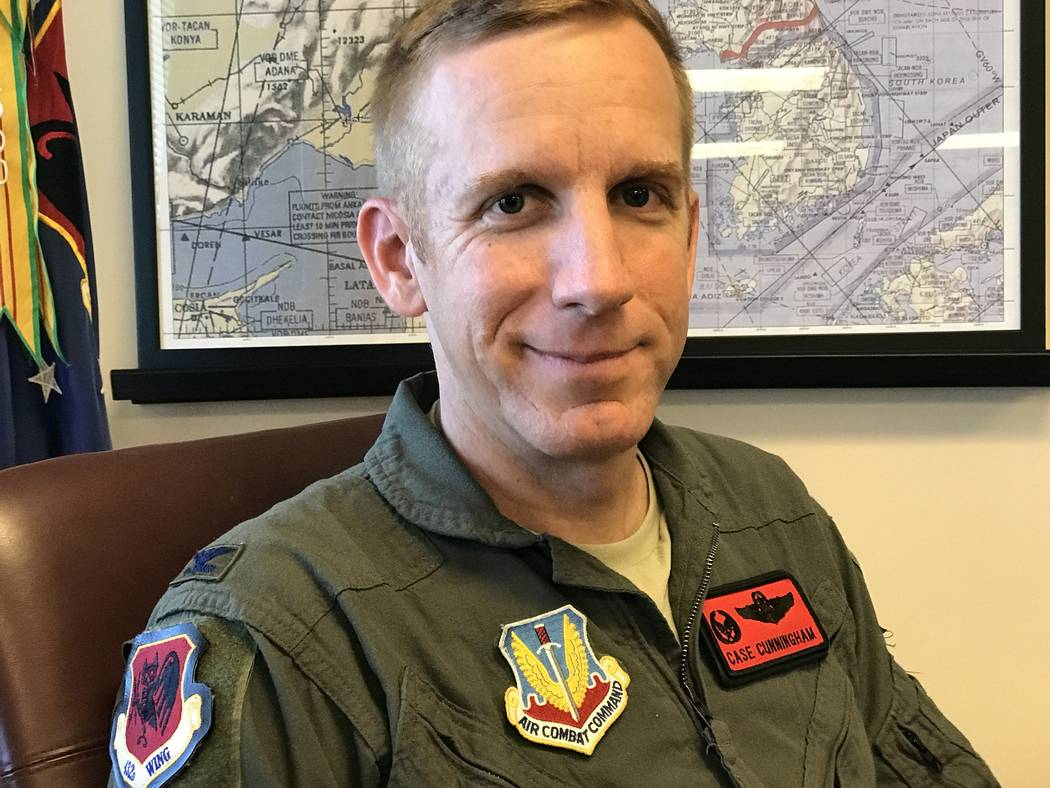 Col. Case Cunningham, commander of the 432nd Wing at Creech Air Force Base, June 1, 2017. Keith Rogers/Las Vegas Review-Journal