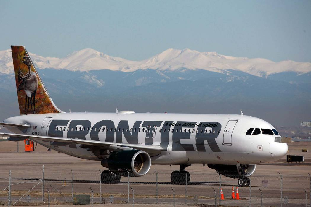 Frontier employees told Miller that he would be a liability in the case of an emergency. They said it was against their corporate policy to let him on board. (David Zalubowski/AP)