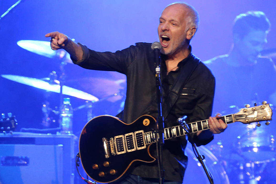 Peter Frampton headlines with the Steve Miller Band on Aug. 8 at the Colosseum at Caesars Palace.  (Photo by Laura Roberts/Invision/AP)