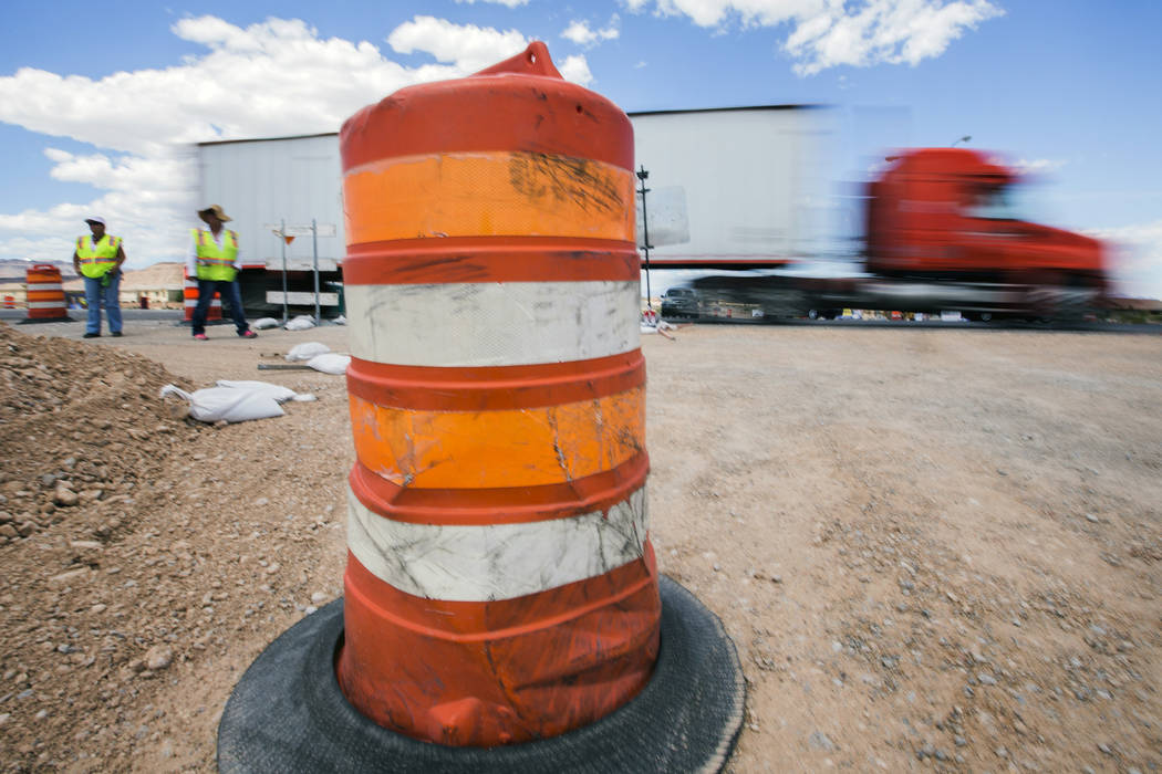 Construction started in August 2015 on the half-mile ramp, which is projected to handle roughly 20,000 vehicles daily. Jeff Scheid/Las Vegas Review-Journal Follow @jlscheid