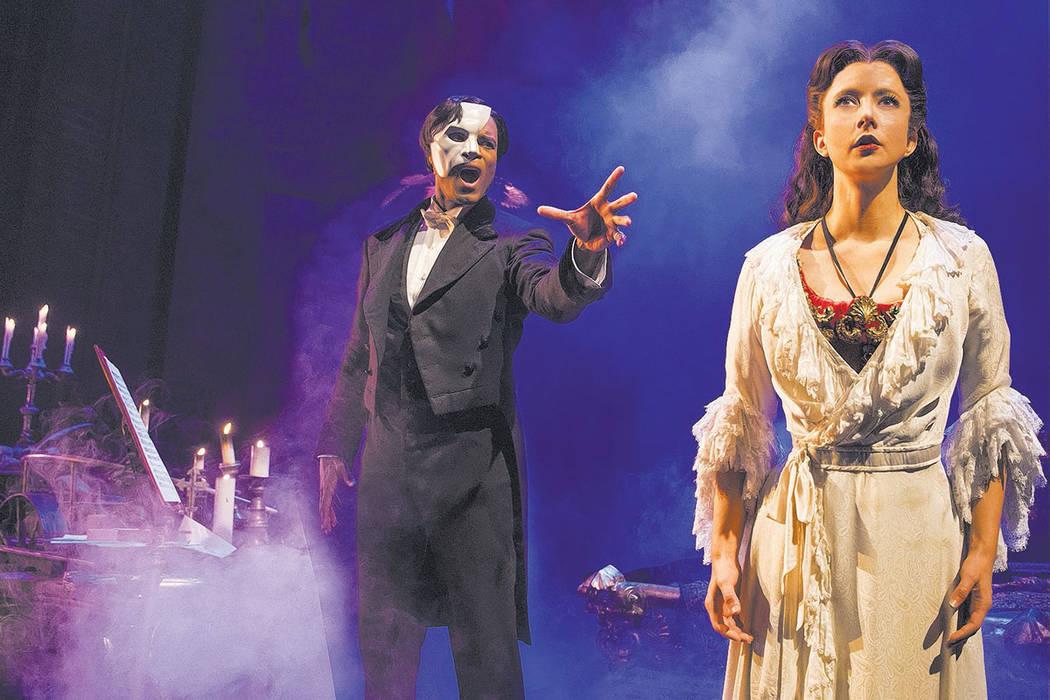 """Derrick Davis and Katie Travis perform in """"The Phantom of the Opera""""  (Matthew Murphy)"""