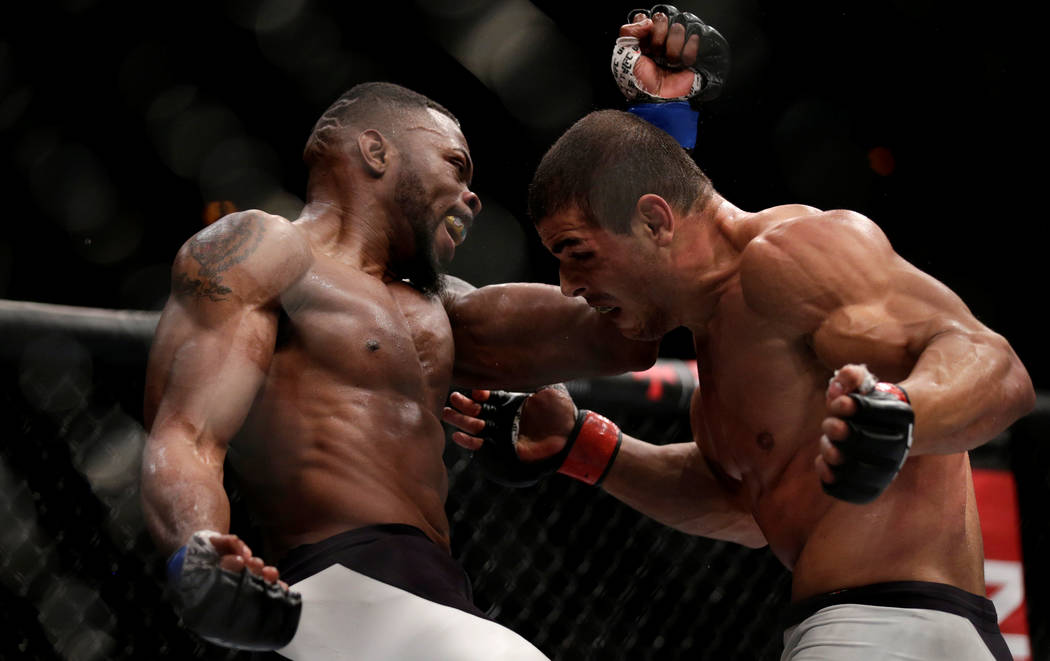 REFILE - CORRECTING TYPO IN MARTIAL MMA - Mixed Martial Arts -  UFC 212 - Jeunesse Arena, Rio de Janeiro, Brazil - 3/6/17 - Paulo Henrique (R) of Brazil and Oluwale Bamgbose of US in action. REUTE ...
