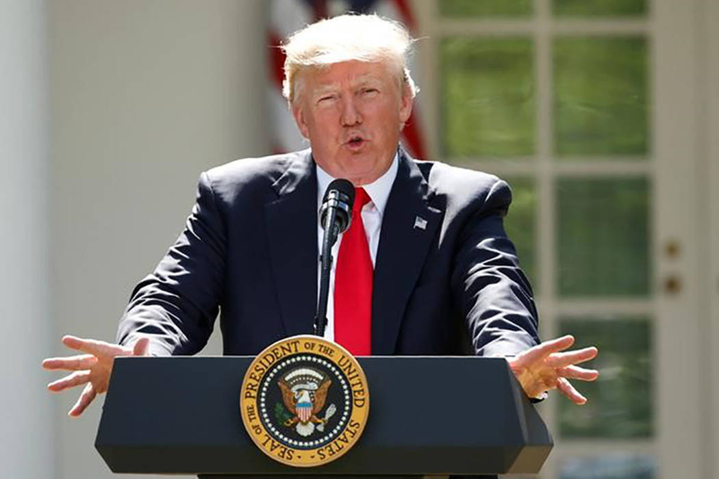 President Donald Trump speaks in Washington on June 1. (REUTERS/Kevin Lamarque/File Photo)