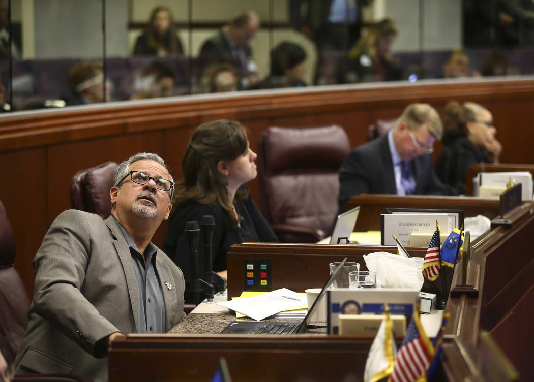 Assemblyman Ozzie Fumo, D-Las Vegas, during the second to last day of the Nevada Legislature at the Legislative Building in Carson City on Sunday, June 4, 2017. Chase Stevens Las Vegas Review-Jour ...