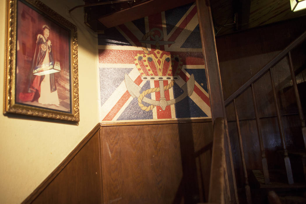 England's flag at the Crown & Anchor British Pub on Sunday, June 4, 2017, on Tropicana in Las Vegas. Rachel Aston Las Vegas Review-Journal @rookie__rae